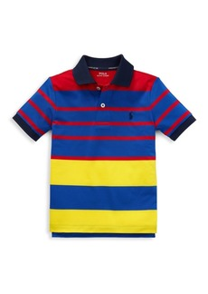 Ralph Lauren Little Boy's Striped Colorblock Polo Shirt