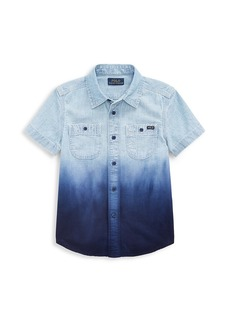 Ralph Lauren Little Boy's Tie Dye Denim Shirt