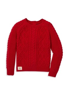 Ralph Lauren Little Girl's & Girl's Aran Cable Sweater