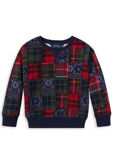 Ralph Lauren Little Girl's & Girl's Atlantic Terry Patchwork Sweatshirt