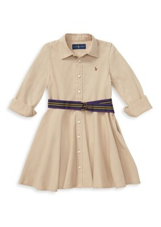 Ralph Lauren Little Girl's & Girl's Belted Chino Dress