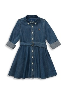 Ralph Lauren Little Girl's & Girl's Belted Denim Shirtdress