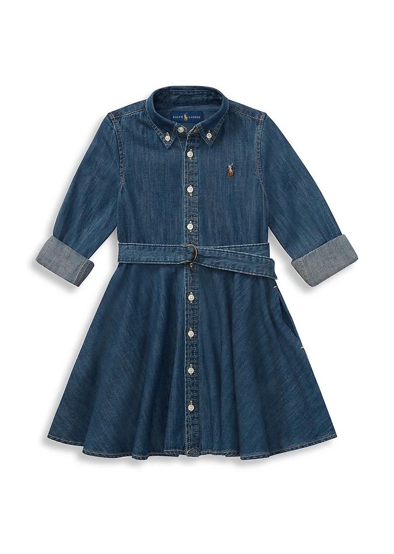 Ralph Lauren Little Girl's & Girl's Belted Denim Shirtdress