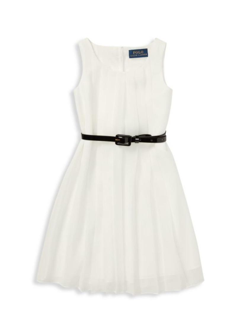 Ralph Lauren Little Girl's & Girl's Belted Pleated Fit & Flare Dress