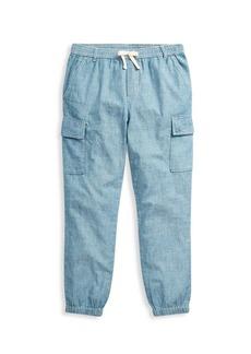 Ralph Lauren Little Girl's & Girl's Chambray Cargo Pants