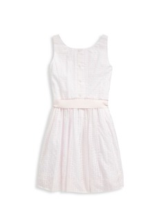 Ralph Lauren Little Girl's & Girl's Check Tie-Sash Flare Dress
