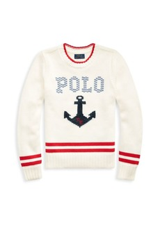 Ralph Lauren Little Girl's & Girl's Cotton Graphic Sweater
