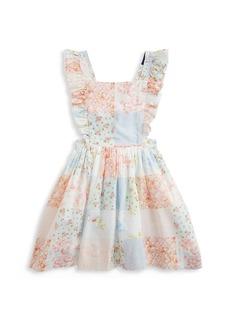 Ralph Lauren Little Girl's & Girl's Cotton Poplin Ruffle Dress