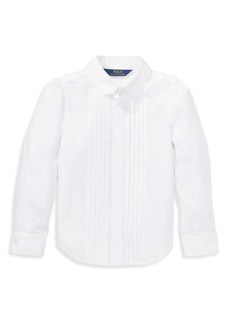Ralph Lauren Little Girl's & Girl's Cotton Tuxedo Shirt