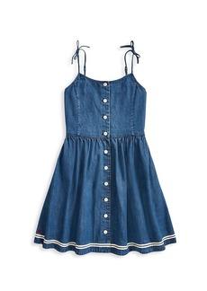 Ralph Lauren Little Girl's & Girl's Denim Button-Front Dress