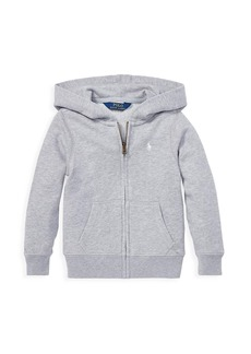 Ralph Lauren Little Girl's & Girl's Drapey Terry Zip-Front Hoodie