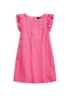 Ralph Lauren Little Girl's & Girl's Eyelet Dress