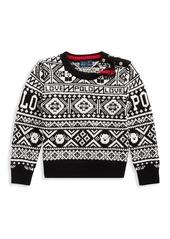 Ralph Lauren Little Girl's & Girl's Fairisle Merino Wool-Blend Sweater