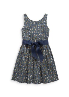 Ralph Lauren Little Girl's & Girl's Floral Cotton Poplin Dress