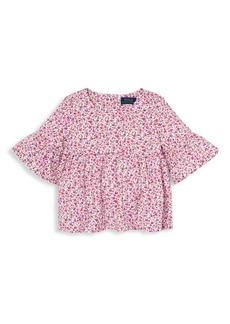 Ralph Lauren Little Girl's & Girl's Floral Cotton Top