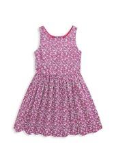 Ralph Lauren Little Girl's & Girl's Floral Poplin Dress