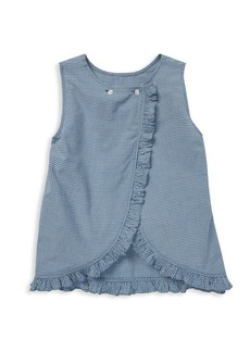 Ralph Lauren Little Girl's Gingham Crossback Top