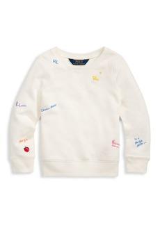 Ralph Lauren Little Girl's & Girl's Graphic French Terry Sweatshirt