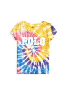 Ralph Lauren Little Girl's & Girl's Logo Tie-Dye T-Shirt