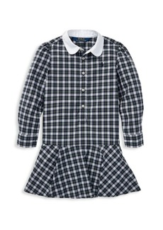 Ralph Lauren Little Girl's & Girl's Plaid Cotton Dress