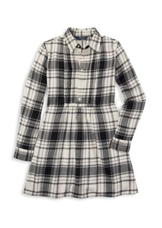 Ralph Lauren Little Girl's & Girl's Plaid Cotton Shirtdress