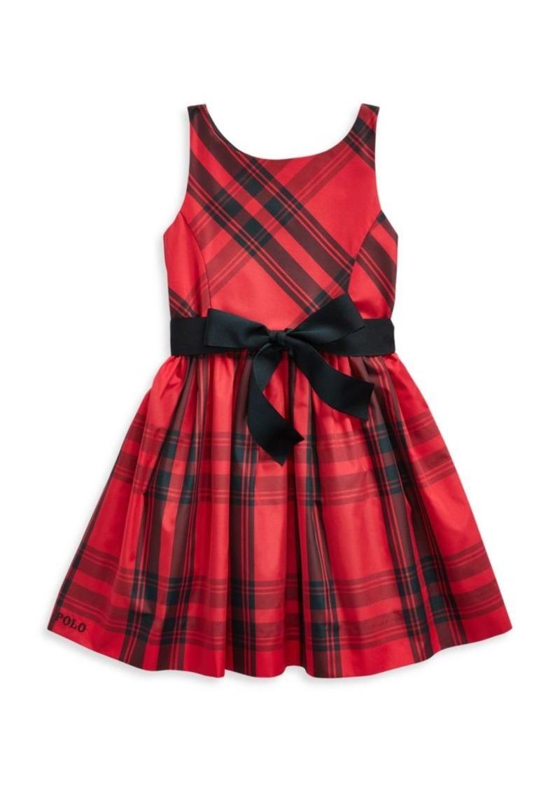 Ralph Lauren Little Girl's & Girl's Plaid Taffeta A-Line Dress