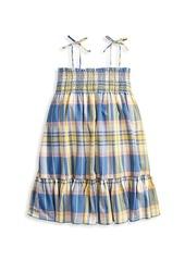 Ralph Lauren Little Girl's & Girl's Plaid Tie-Shoulder Shift Dress