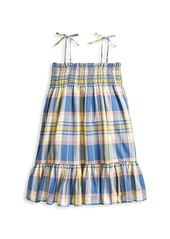 Ralph Lauren Little Girl's & Girl's Plaid Tie-Shoulder Shift Dress