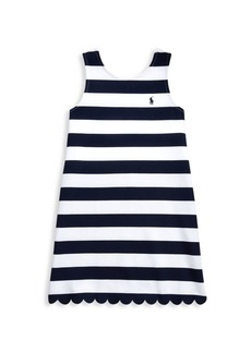 Ralph Lauren Little Girl's & Girl's Ponte Scalloped Dress