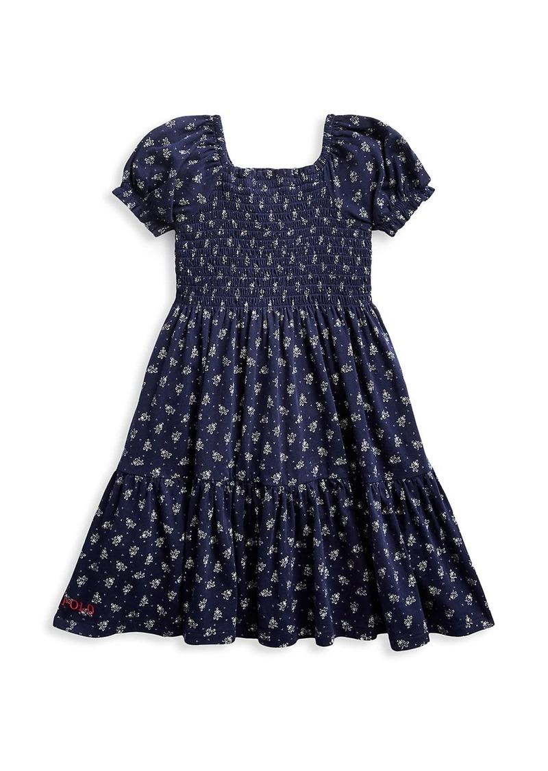 Ralph Lauren Little Girl's & Girl's Print Puff-Sleeve A-Line Dress