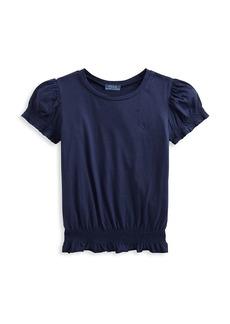 Ralph Lauren Little Girl's & Girl's Puff-Sleeve Jersey Top
