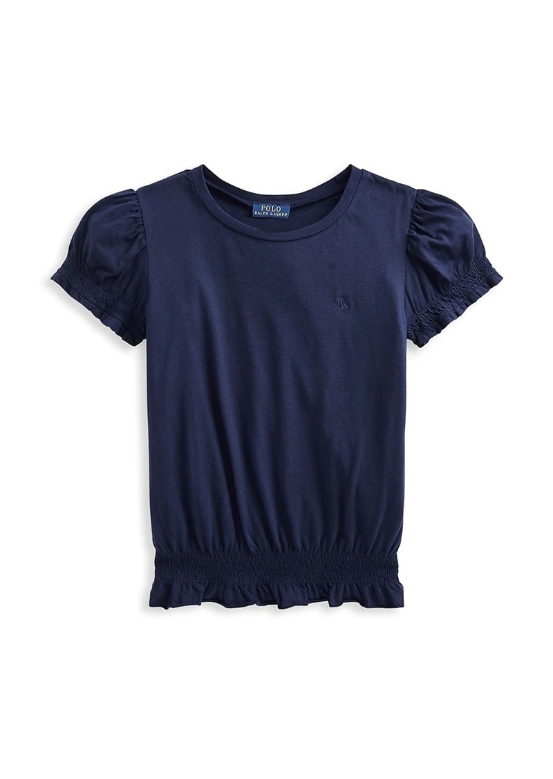 Ralph Lauren Little Girl's & Girl's Puff-Sleeve Jersey Top