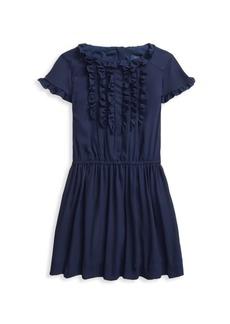 Ralph Lauren Little Girl's & Girl's Ruffle Crepe Dress