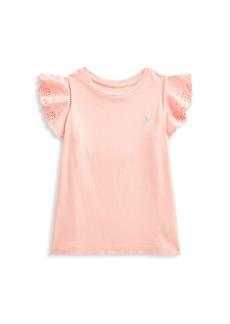 Ralph Lauren Little Girl's & Girl's Ruffle Lace Eyelet T-Shirt