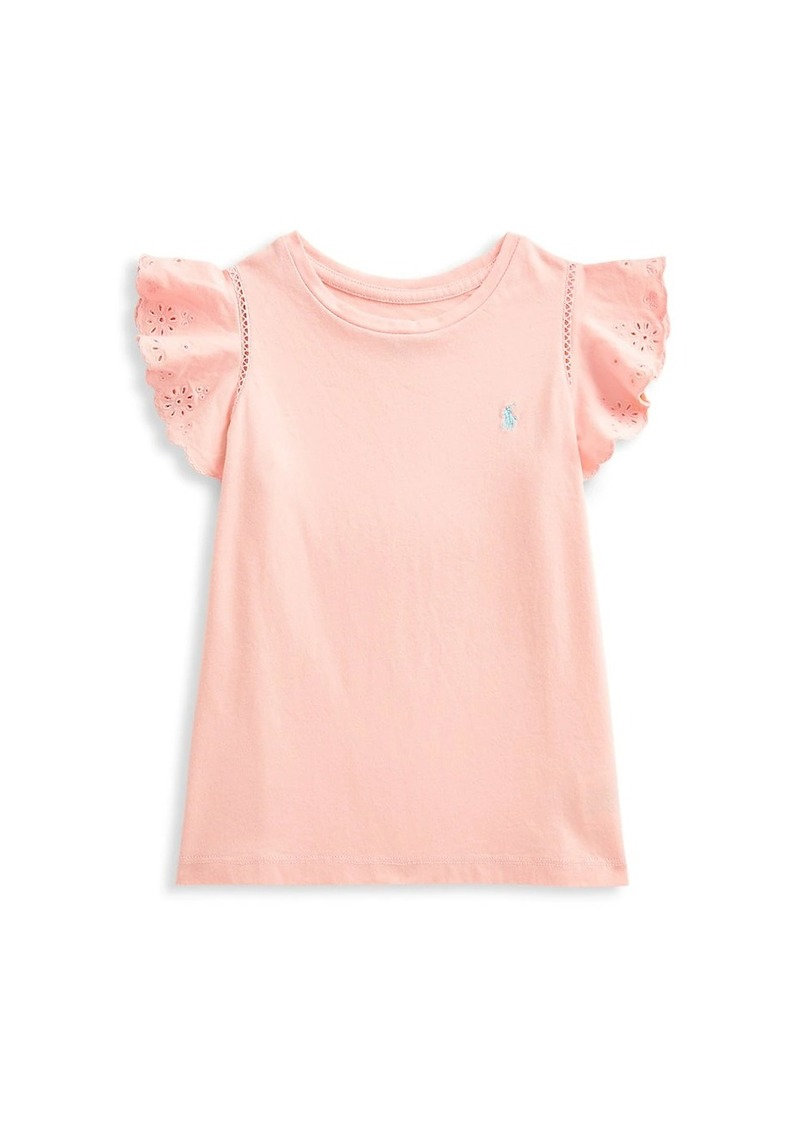 Ralph Lauren Little Girl's & Girl's Ruffle Lace Eyelet T-Shirt