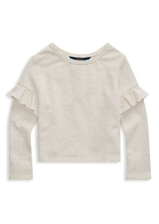 Ralph Lauren Little Girl's & Girl's Ruffle Long-Sleeve Top
