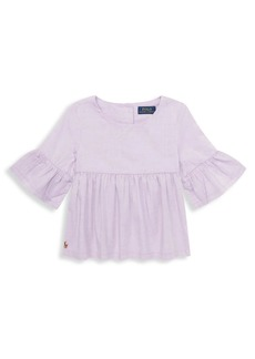 Ralph Lauren Little Girl's & Girl's Ruffled Cotton Top