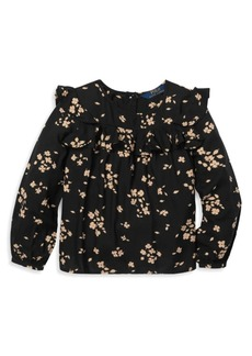Ralph Lauren Little Girl's & Girl's Ruffled Floral Top