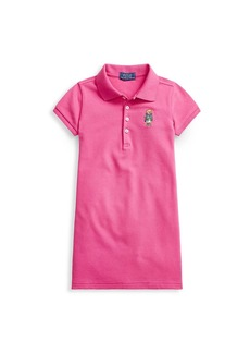 Ralph Lauren Little Girl's & Girl's Stretch Bear Polo Dress
