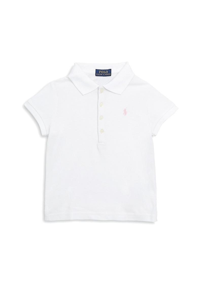 Ralph Lauren Little Girl's & Girl's Stretch Cotton Polo Shirt