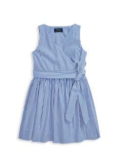 Ralph Lauren Little Girl's & Girl's Stripe Cotton Poplin Dress