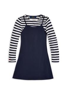 Ralph Lauren Little Girl's & Girl's Stripe Nautical A-Line Dress
