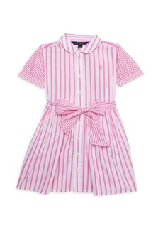 Ralph Lauren Little Girl's & Girl's Stripe Short-Sleeve Shirtdress