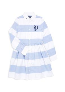 Ralph Lauren Little Girl's & Girl's Striped A-Line Polo Dress