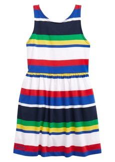 Ralph Lauren Little Girl's & Girl's Striped Cotton Jersey Dress