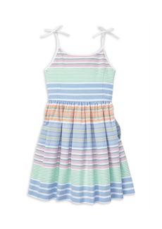 Ralph Lauren Little Girl's & Girl's Striped Cotton Oxford Dress