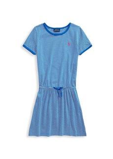Ralph Lauren Little Girl's & Girl's Striped Drawstring Dress
