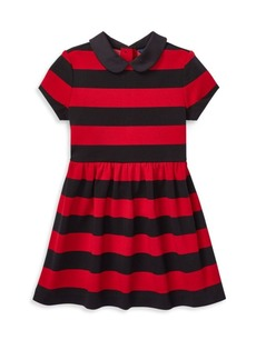 Ralph Lauren Little Girl's & Girl's Striped Polo Dress