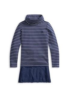 Ralph Lauren Little Girl's & Girl's Striped Turtleneck Dress