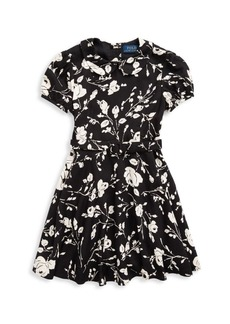 Ralph Lauren Little Girl's & Girl's Taylor Floral Print Fit & Flare Dress